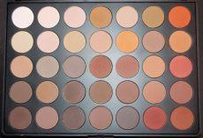 morphe 35o matte palette review morphe 35o matte shimmer the colourpop addict