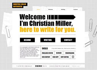 copywriter cv template modern design bold fonts sleek
