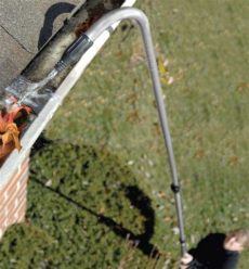 how to unclog a downspout from the ground how to clean gutters from the ground diy pj fitzpatrick