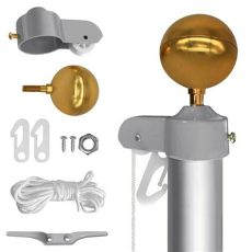 flagpole pulley kit flagpole parts repair kit 2 quot dia flag pole truck pulley cleat rope 888688340225 ebay