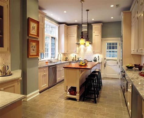 paint small kitchen light color narrow kitchen island