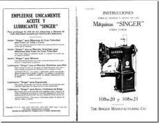 manual de instrucciones de maquina de coser singer facilita 972 manual singer modelos 108w20 y 108w21