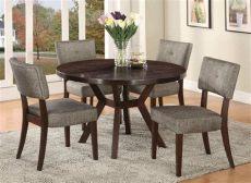 comedor redondo de madera 4 sillas comedor circular 4 sillas tapizada madera pino madera viva 21 582 00 en mercado libre