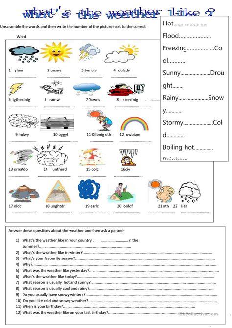 weather worksheet free esl printable worksheets teachers
