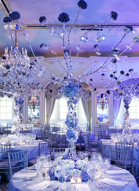 winter wedding reception ideas winter wedding receptions blue