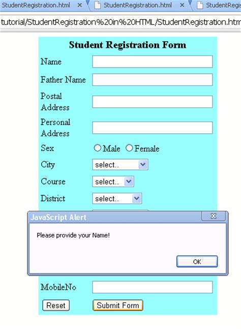 application form application form html code