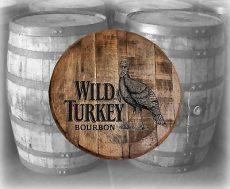 rustic home bar decor turkey bourbon barrel lid wood wall kentucky ebay - Bourbon Barrel Lid Art