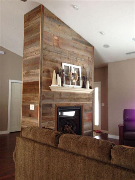 reclaimed wood fireplace beach house pinterest