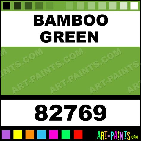 bamboo green extra fine oil paints 82769 bamboo
