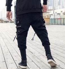 tapered cargo pants techwear soldier x i multi pocket techwear tapered cargo wi ninjadark