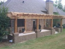 how to build a porch attached to a house attached pergola designs pergola build concrete patio on rear of this house the pergola