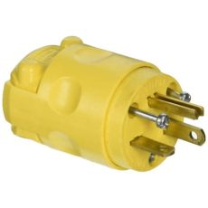 home depot electrical plugs leviton 20 125 volt grounding yellow 520pv the home depot