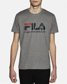 gosha fila t shirt lyst gosha rubchinskiy fila logo print cotton t shirt in gray for