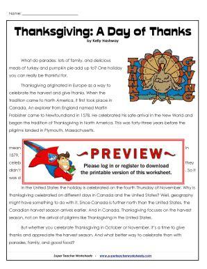 super teacher worksheets thanksgiving day fill online printable