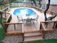 above ground pool deck plans oval above ground pool deck plans oval deck ideas