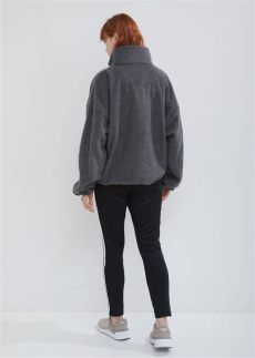 gosha rubchinskiy adidas fleece zip up sweater gosha rubchinskiy adidas fleece zip up sweater in grey gray lyst