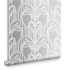 art deco wallpaper silver deco silver wallpaper grahambrownuk