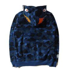 a bathing ape hoodie price a bathing ape bape wgm camo shark hoodie blue