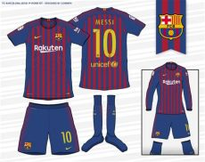 barcelona new kit 201819 dls barcelona 2018 19 home kit according to leaks