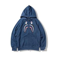 navy blue bape hoodie buy discount cheap unauthorized replicas fakes bape classic shark navy blue hoodie for