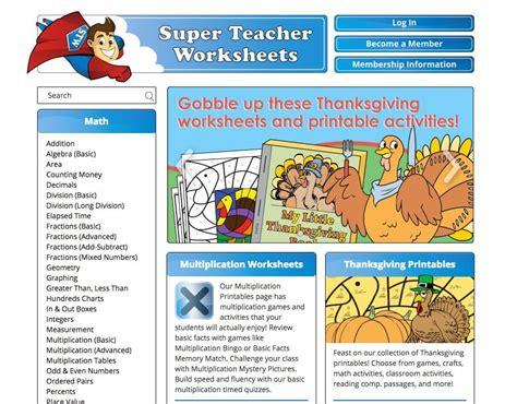 super teacher worksheets edshelf