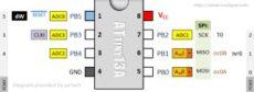 program attiny13a via arduino board home circuits - Attiny13a Circuit