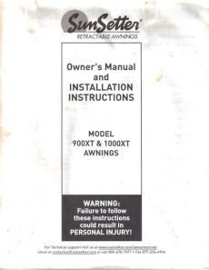 sunsetter awnings model 1100 manual 78 sunsetter awning parts list home decor
