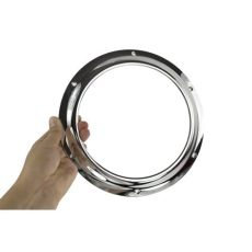 metal porthole window kit for door bright chrome door port kit with glass black country metalworks