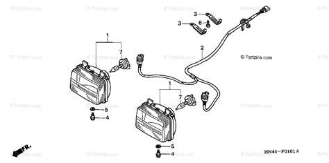 honda atv 2002 oem parts diagram headlight trx350fm