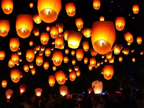 20 50 100 paper chinese lanterns sky fly