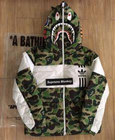bape x adidas down jacket replica bape bape x adidas shark jacket size m 1300 grailed bape supreme clothing