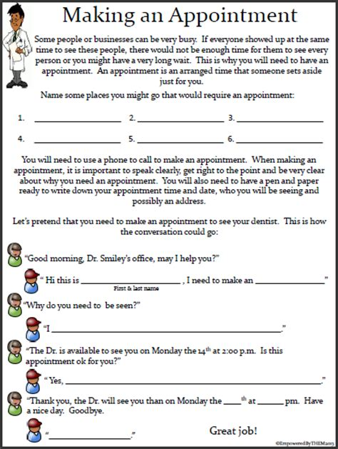 empowered life skills worksheets