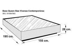 4 base de cama size contempor 225 nea chocolate vicenza estilo contempor 225 neo modelo vicenza - Base Para Cama Queen Size Medidas