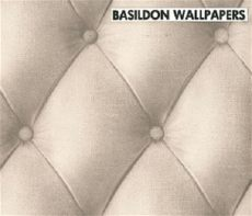 leather wallpapers and borders to buy wallpaperandborders co uk - White Padded Leather Effect Wallpaper