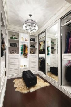 white walk in closet with a mirror doors home decoz - Walk In Wardrobe Mirror Doors