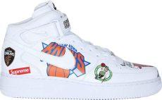 nike air 1 mid supreme nba white - Nike Air Force 1 Mid Supreme Nba White
