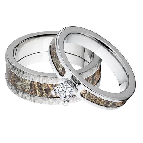 camo rings sets matching realtree premium tree bark