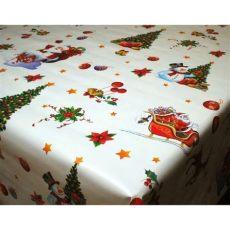 christmas tablecloths uk santa sleigh white vinyl oilcloth tablecloth wipe clean tablecloths table