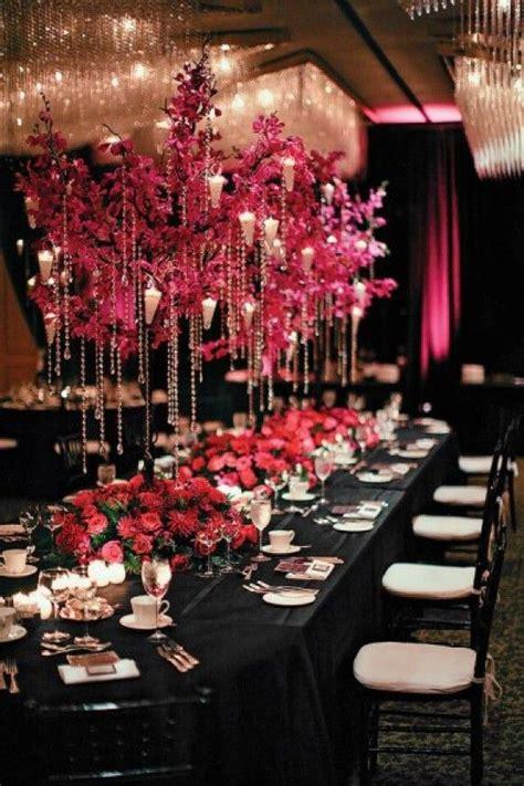 pink black wedding decor ideas hot pink fuchsia