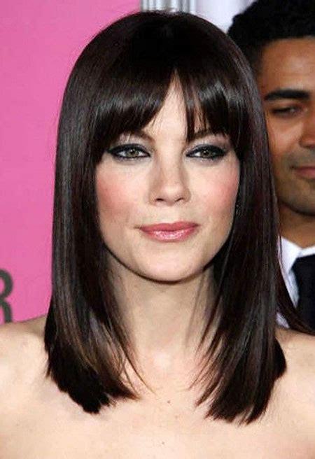 15 Medium Length Hairstyles With Bangs Popular Haircuts.html