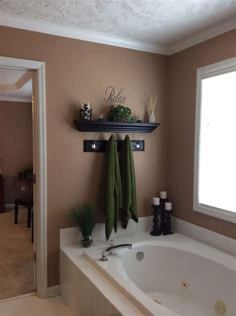 garden tub wall decor restroom decor diy bathroom