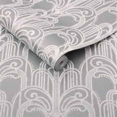 deco silver wallpaper grahambrownuk - Art Deco Wallpaper Silver