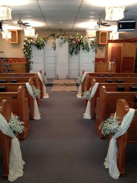 pews easy church ceremony decorations church