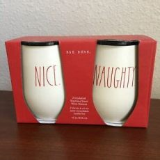 rae dunn christmas collection 2017 dunn quot and quot set of 2 insulated wine glasses ebay