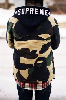 supreme x bape jacket supreme hoodie and bape jacket about a boy
