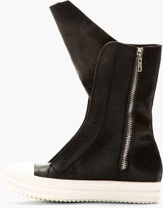 rick owens ramones boots rick owens black leather ramones boots in black lyst