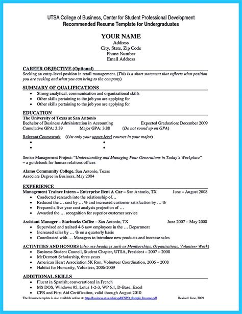 Resume For A Colege Student With No Work Experience.html
