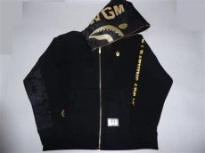 black and gold bape sweater 8556 bape x dover black collection shark hoody gold s