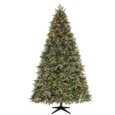 martha stewart living 9 ft prelit led alexander home accents 6 5 ft indoor pre lit sparkling pine