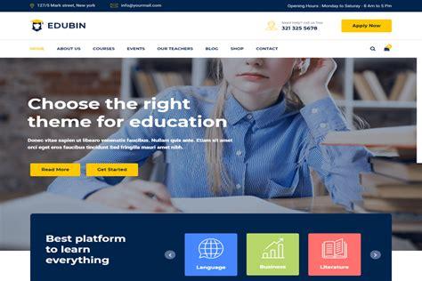 edubin education website html template free download